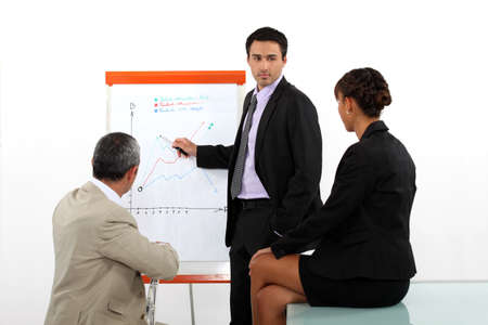 Businessman presenting the results of a market research photo