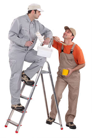 tradespeople: A team of painters