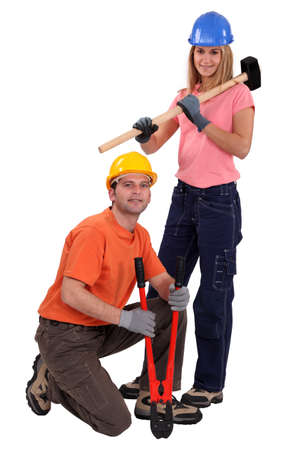 craftswoman and craftsman together photo