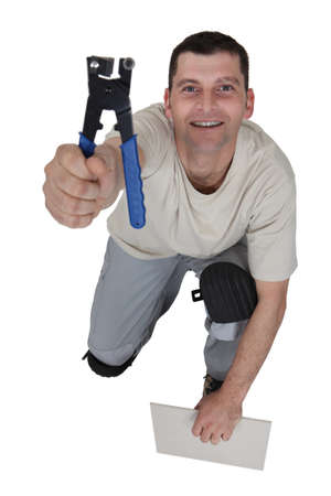 Tile cutter holding tool Stock Photo - 17219592