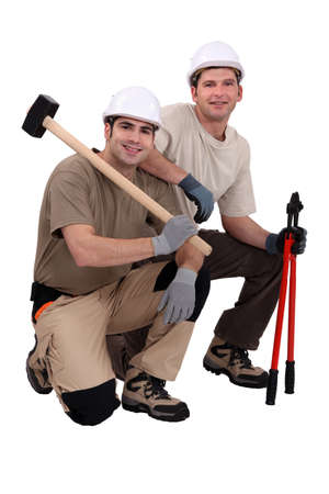 A team of tradesmen with their tools Stock Photo - 17219860