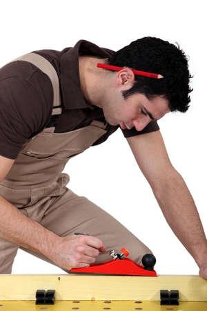 joiner: Laborer sawing