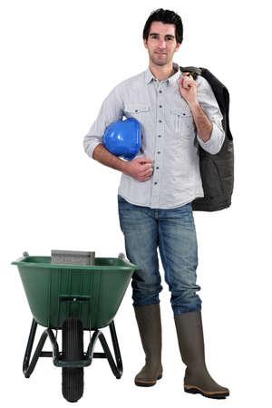 wellington: Man with wheelbarrow