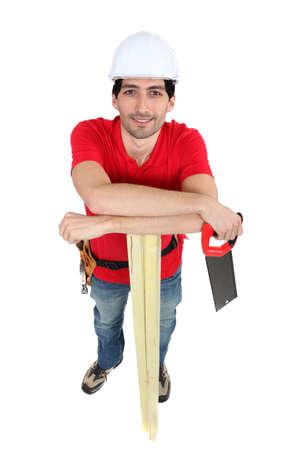 serrucho: Carpenter celebraci�n sierra de mano