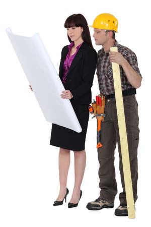 Architect and foreman Stock Photo - 17219695