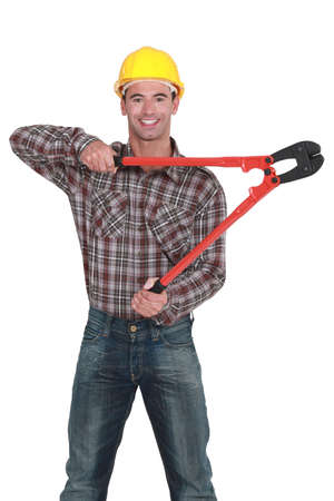 plier: Man with tongs