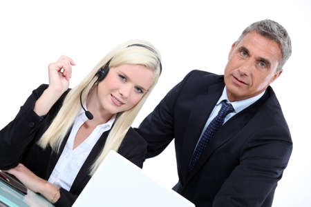 Telemarketer and sales manager Stock Photo - 17220142