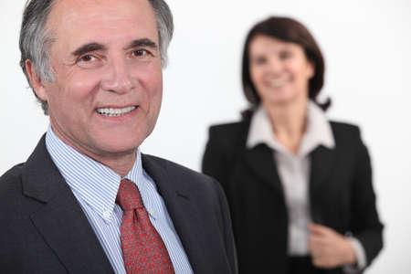 old businessman smiling photo