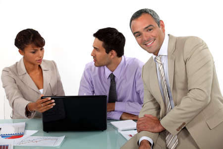 senior business: Great atmosphere in business meeting