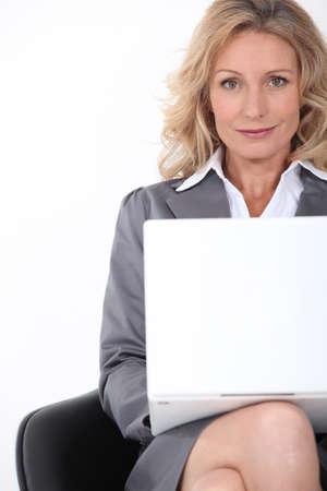 sales representative: Businesswoman on laptop