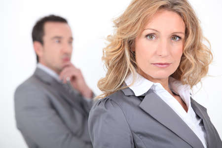 Male and female business colleagues Stock Photo - 17220426