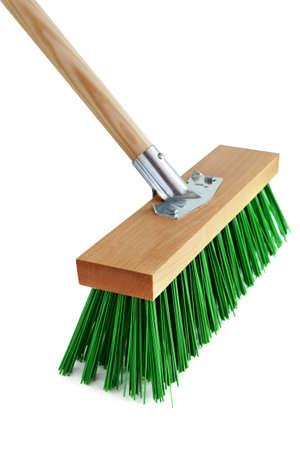 escoba: Cepillo de barrido Foto de archivo