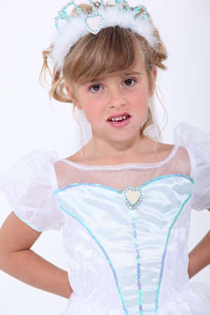 disinclination: Girl dressed up as a princess Stock Photo