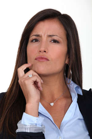 skeptical woman Stock Photo - 17220332