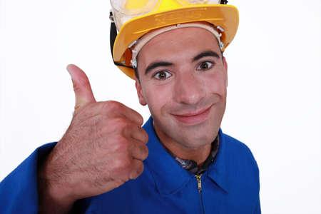 Tradesman giving the thumb Stock Photo - 17219955