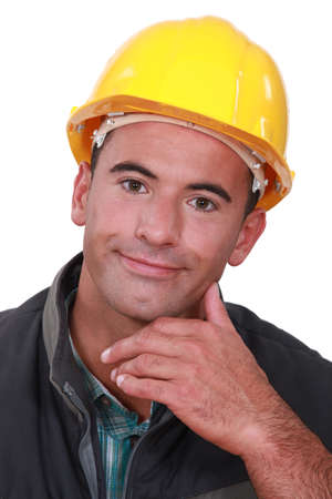 inconclusive: Portrait of a satisfied tradesman