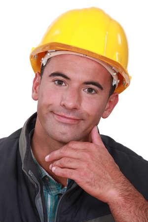 inconclusive: Portrait of a satisfied tradesman