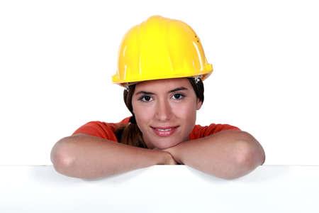 tradeswoman: Portrait of an attractive tradeswoman Stock Photo