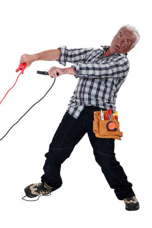 A mature burned electrician Stock Photo - 17219669