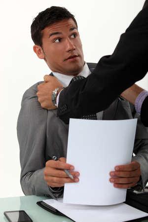 fracas: Office fracas Stock Photo