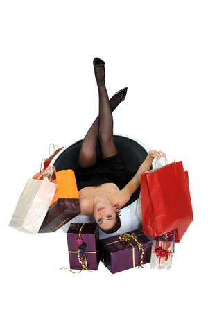 Woman with shopping bags and presents Stock Photo - 17295167