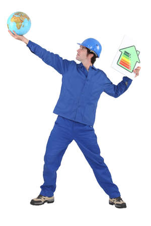 Tradesman reaching for the stars photo
