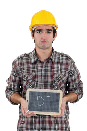 Unhappy tradesman Stock Photo - 17304179