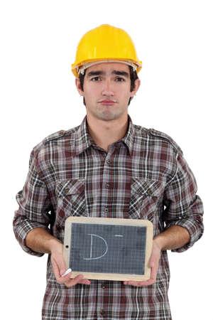 Unhappy tradesman Stock Photo - 17304179