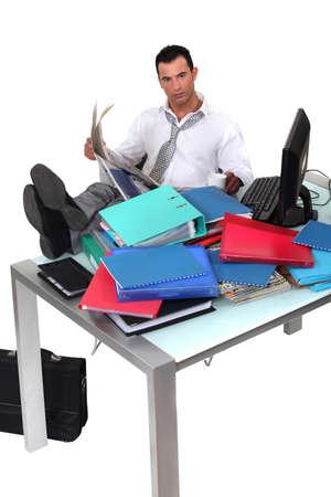 voluminous: Overwhelmed executive