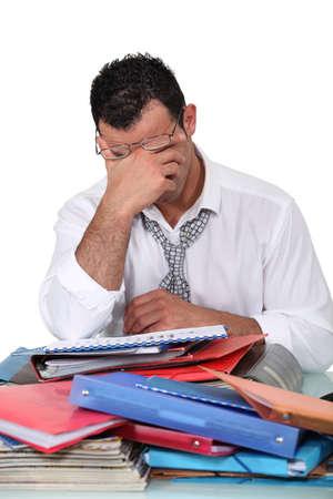 file clerks: Overworked employee