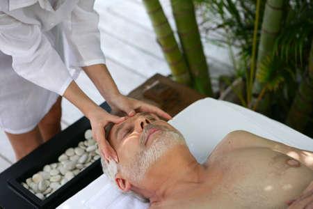 Man having a massage photo