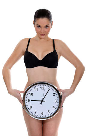 time critical: Biological clock ticking Stock Photo