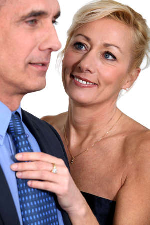 older couples: Mature couple in evening dress