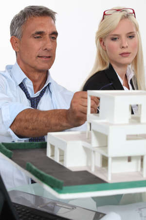 Architects with a 3D model photo