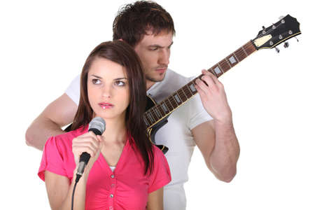 Musical duo Stock Photo - 17296971