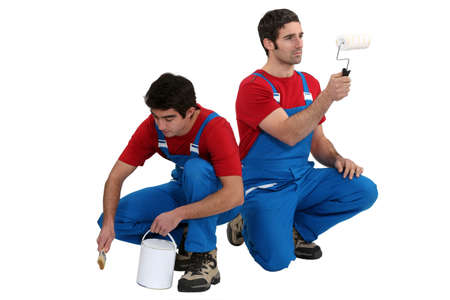A team of painters Stock Photo - 17396156