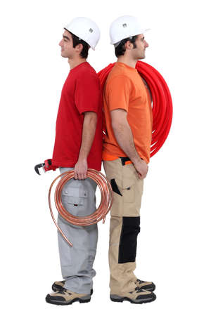 Electrician and plumber Stock Photo - 17396150