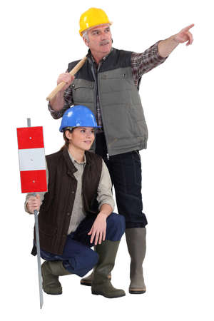 Tradespeople being distracted from their work Stock Photo - 17386529