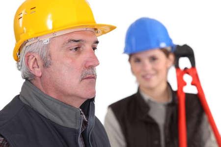 journeyman technician: A couple of construction worker.