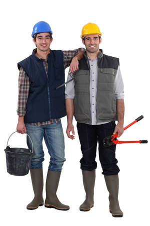 A team of tradesmen Stock Photo - 17386489