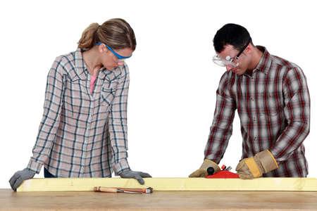 craftswoman: craftswoman and craftsman working together