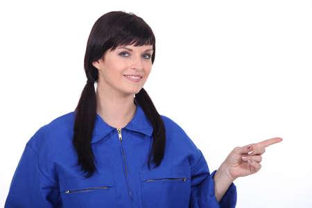 female mechanist Stock Photo - 17386327