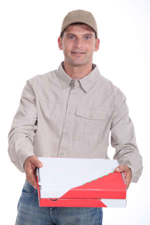 zipped: Pizza delivery Stock Photo