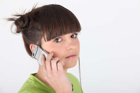 puberty: Teen on the phone