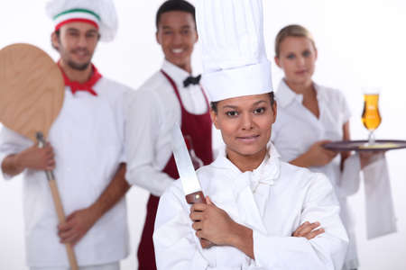 Le personnel du restaurant photo