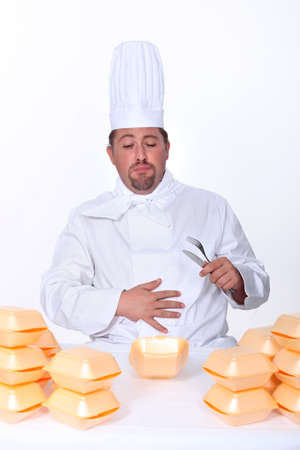 too much: chef sick after eating too many burgers