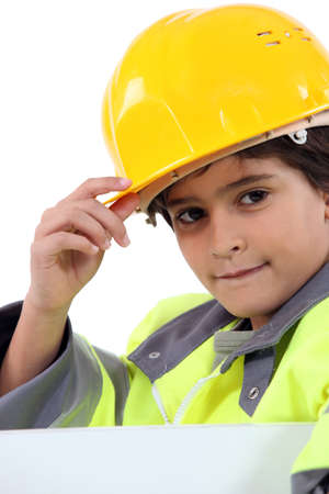 roughneck: Young boy in a construction costume