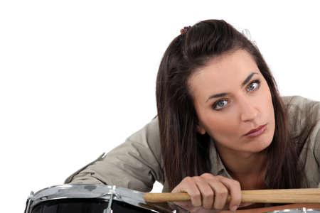 Female drummer Stock Photo - 17480482