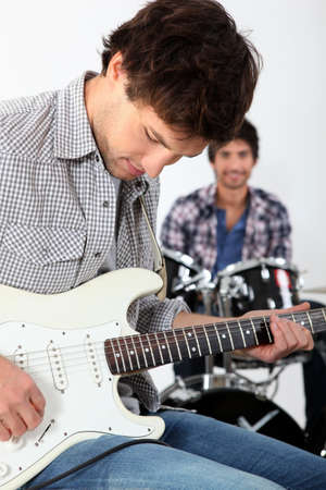 A band playing together Stock Photo - 17479853