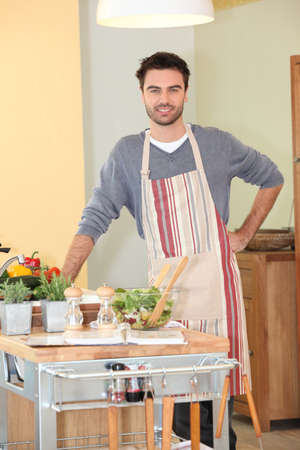 Man cooking at home Stock Photo - 17479852